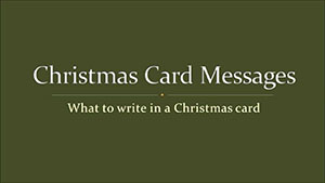 What To Write In A Christmas Card?