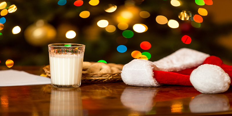 leave milk and cookies for santa claus